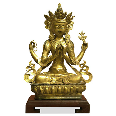 Bronze Sitting Tibetan Buddha Sculpture