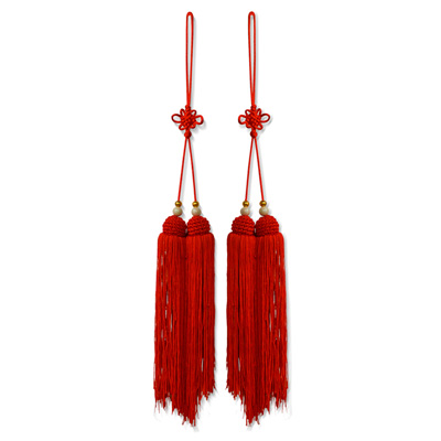 Lucky Red Silk Tassel Set