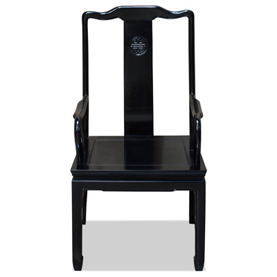 Black Rosewood Longevity Arm Chair
