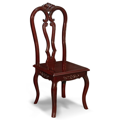 Dark Cherry Rosewood Swan Side Chair