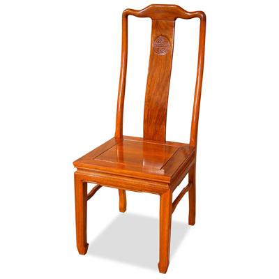 Natural Finish Rosewood Chinese Longevity Chair