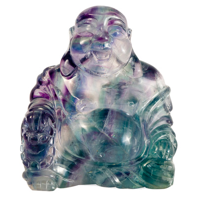 3.5 Inch Fluorite Happy Buddha Asian Figurine