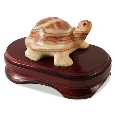 Red Onyx Tortoise with Stand