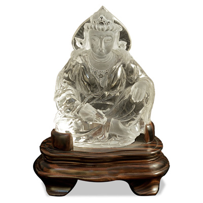 Clear Quartz Sitting Buddha