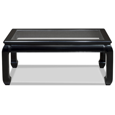 Black Rosewood Ming Rectangular Coffee Table