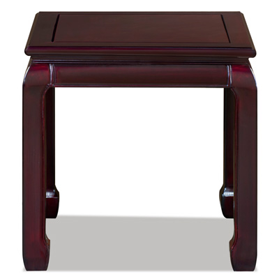 Dark Cherry Rosewood Ming Side Table