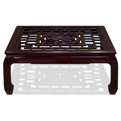 Dark Cherry Rosewood Longevity Square Coffee Table