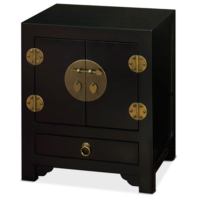 Black Elmwood Ming Cabinet
