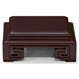 4.5 Inch Brown Square Wooden Stand