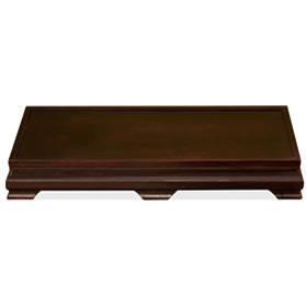 26 x 12 Inch Dark Brown Elmwood Rectangular Chinese Stand