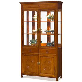 Natural Finish Rosewood Longevity Design China Cabinet
