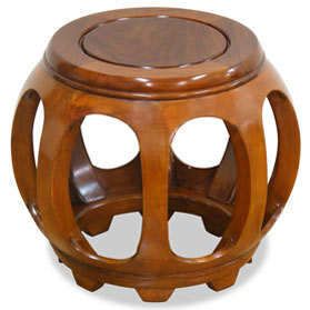 Natural Finish Rosewood Petite Round Stool