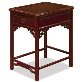 Dark Cherry Rosewood Ming End Table