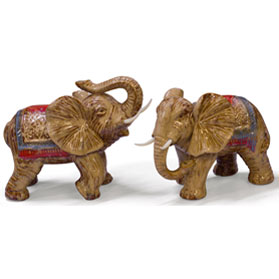 Porcelain Double Happiness Elephant Set