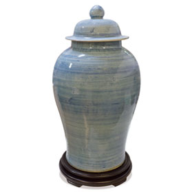 Lightly Brushed Porcelain Qing Imperial Ginger Jar
